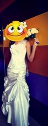 Стильное свадебное платье борисов
