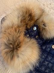 Демисезонное пальто (зимнее и осеннее пальто) с натуральным мехом лиса